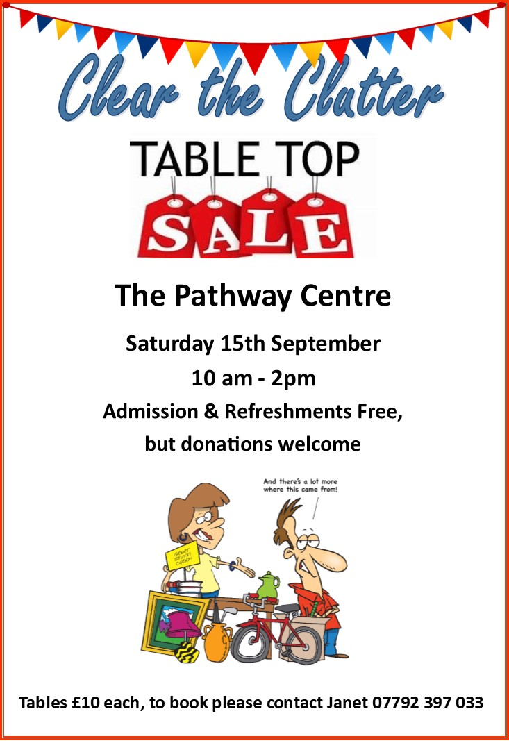 table top sale poster web